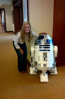 lisa and R2D2