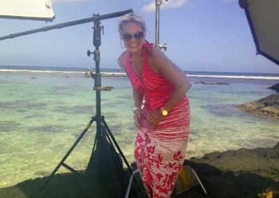 Lisa Germani On Set